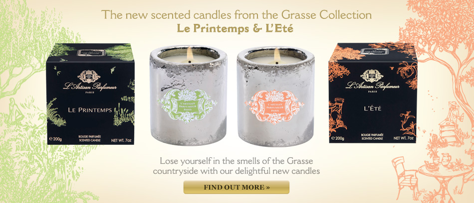 Grasse collection candles spring summer le printemps l'�t�